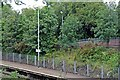 SJ3876 : Entrance ramp and flora, Overpool Railway Station by El Pollock