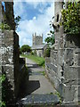 SW6719 : Entrance to the churchyard, Mullion by Chris Allen