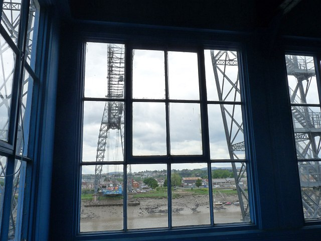 The view from the motor house, Newport Transporter Bridge by Robin Drayton