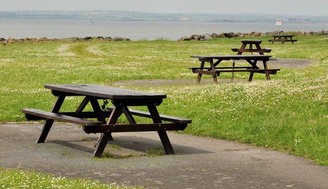 Picnic tables, Cunningburn near Newtownards