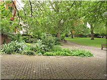 TQ3282 : Garden of Bunhill Fields Burial Ground by David Hawgood
