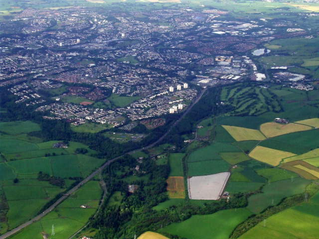 East Kilbride from the air