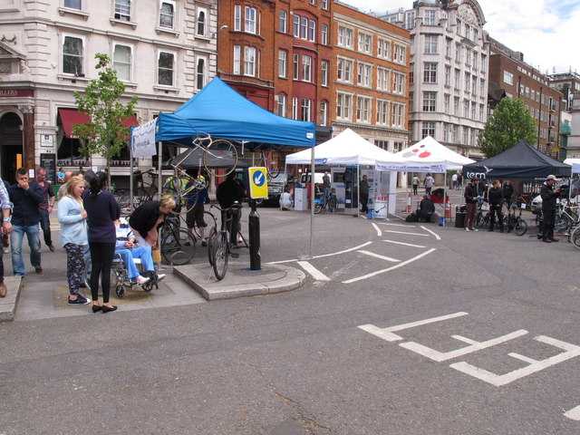 Trade stands for London Nocturne bike races