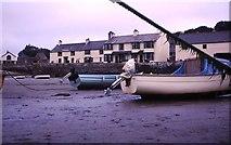 SW5130 : St Michael's Mount Harbour 1975 by John M Wheatley