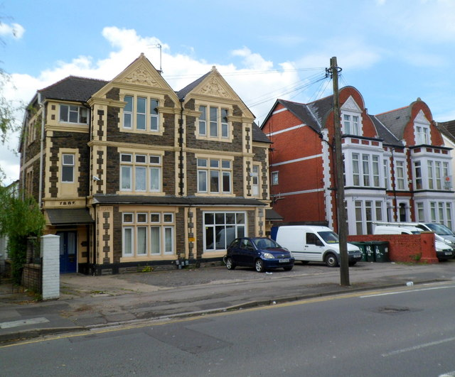 Three-storey late Victorian houses, Chepstow Road, Newport by Jaggery