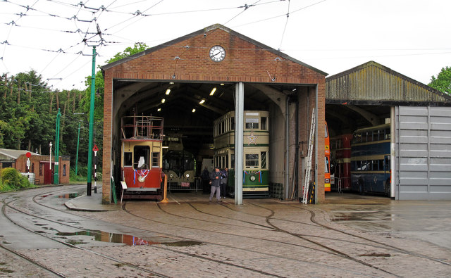 Tram and Bus Depots, East Anglia Transport Museum