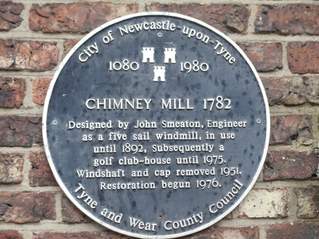 The Blue Plaque, Chimney Mill, Newcastle upon Tyne