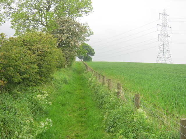 Footpath east of Raisby Quarry