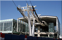 TQ3979 : North Greenwich:  Emirates Air Line cableway, southern terminal by Dr Neil Clifton