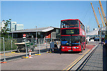 TQ3979 : North Greenwich:  Bus on Route 472 by Dr Neil Clifton