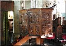 SO3958 : St Mary, Pembridge - Pulpit by John Salmon