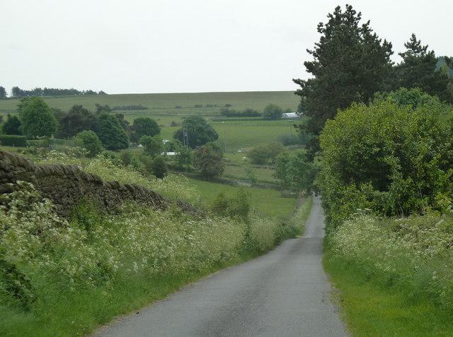 Knabhall Lane towards the B6014