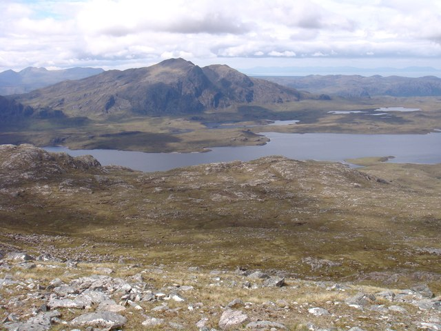 West side of Beinn a' Chaisgein Mor