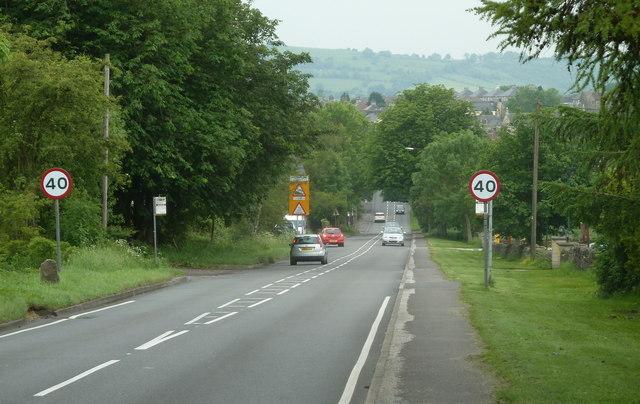 A632 towards Matlock