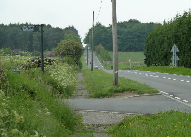 A632 and the end of Cuckoostone Lane
