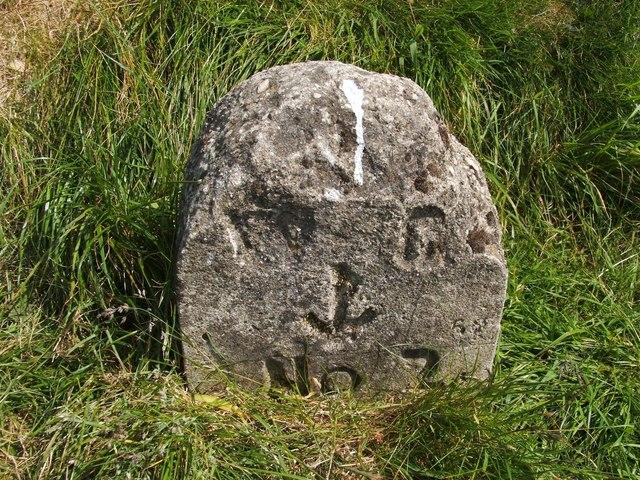 Dumbarton Rock: War Department boundary stone no. 2