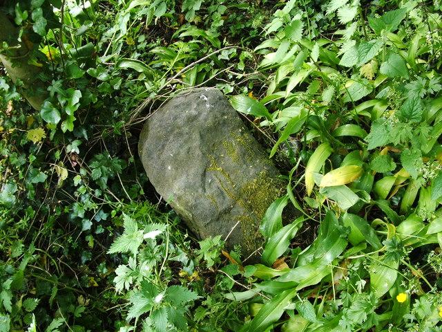 Dumbarton Rock: War Department boundary stone no. 6
