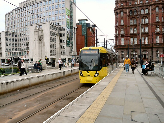 Oldham Tram at St Peter's Square