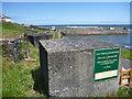 NU2519 : Coastal Northumberland : WW2 Anti-tank Blocks at Craster Harbour by Richard West