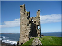NU2521 : Coastal Northumberland : The Lilburn Tower, Dunstanburgh Castle by Richard West
