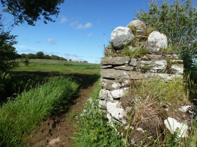 Gate pillar near Dunkineely