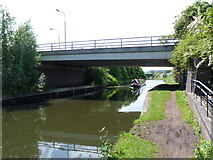 SJ7996 : Bridgewater Canal with Europa Gate above by Alexander P Kapp