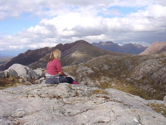 Crag above Lochan na Bearta