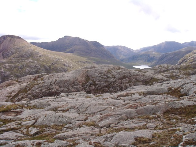 Rocky ridge of Creag-mheall Mor