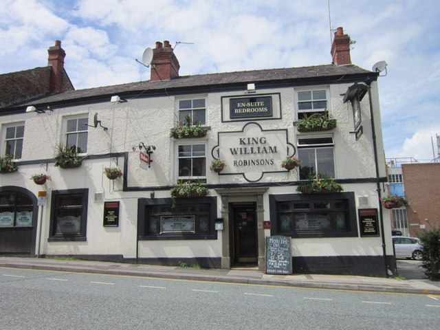 The King William on Manchester Road, Wilmslow