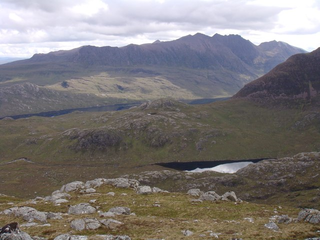 Ridge north of Creag-mheall Mor