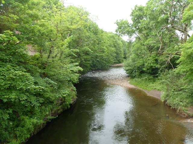 River Taff upstream from Pont Rhun, Troedyrhiw by Jaggery