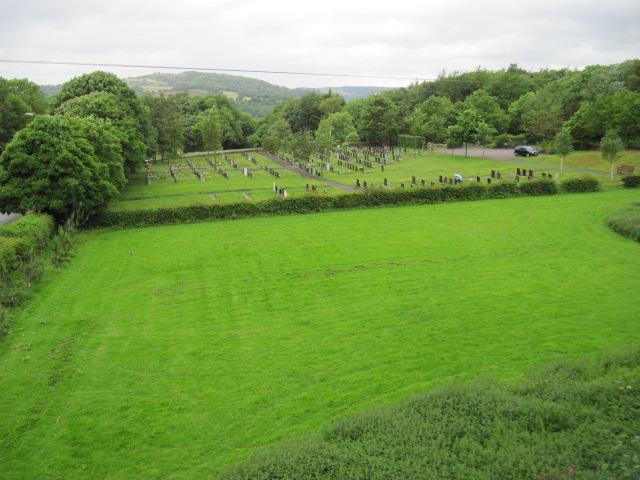 Cemetery near Steeple Grange