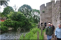 ST5545 : Wells : The Bishop's Palace - Moat & Wall by Lewis Clarke