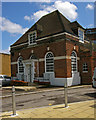 TQ2266 : Former post office, Worcester Park by Julian Osley