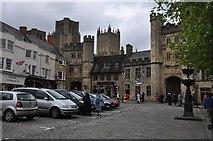 ST5545 : Wells : Market Place by Lewis Clarke