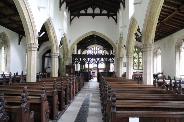 Interior, St Mary's church, Marshchapel