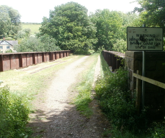Jumping from this bridge could risk life or limb, Usk