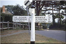 TQ5509 : Old Signpost, Upper Dicker, East Sussex by Derek Voller
