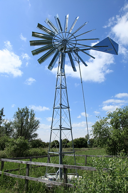 wind powered water pump sedge fen rob noble geograph britain