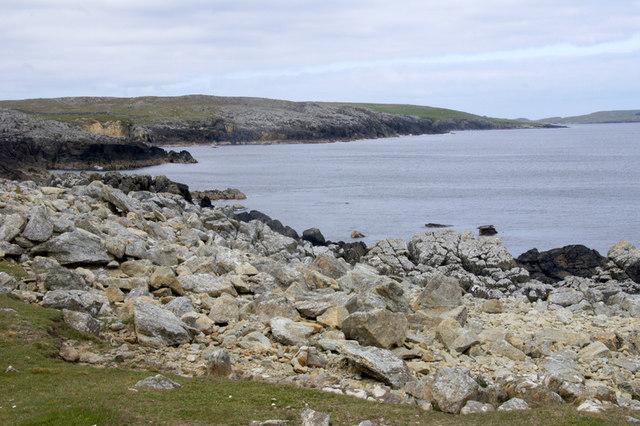 Coastline north of Rumblies Goe, north of Colvadale