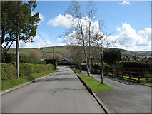 SN9768 : Approaching Rhayader on the Wye Valley Walk by David Purchase