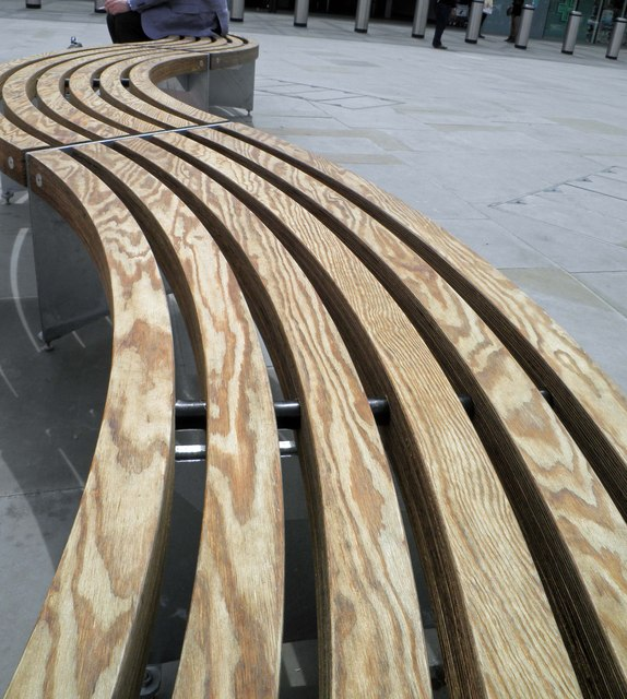 Benches outside the 'new' King's Cross