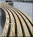 TQ3083 : Benches outside the 'new' King's Cross by Steve  Fareham