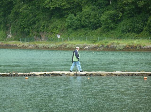 West Looe - walking on water