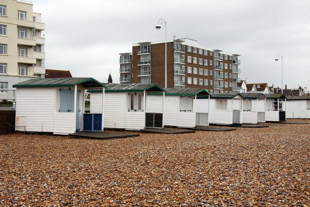 Beach huts in Bexhill