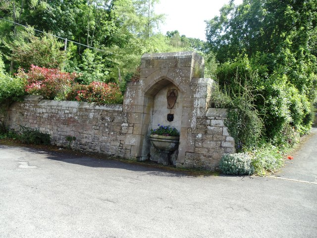 Old Drinking Trough, now a floral display