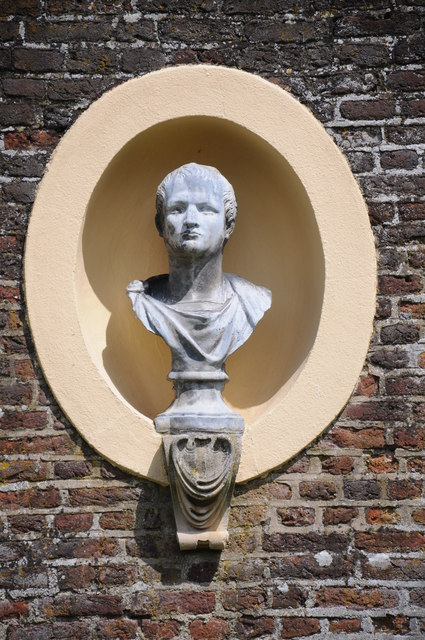 Bust in grounds of Ham House