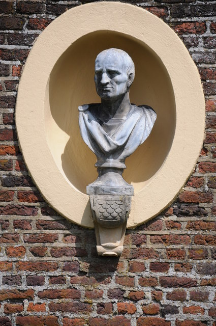 Bust in the grounds of Ham House