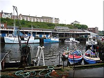 NZ3668 : The Gut, North Shields Fish Quay by Andrew Curtis