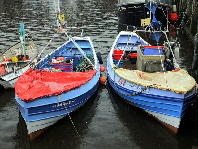 Coble fishing boats, North Shields Fish Quay